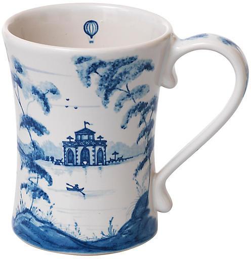 Country Estate Coffee Cup - White/Blue - Juliska