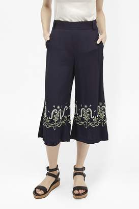 French Connection Casa Tile Embellished Trousers