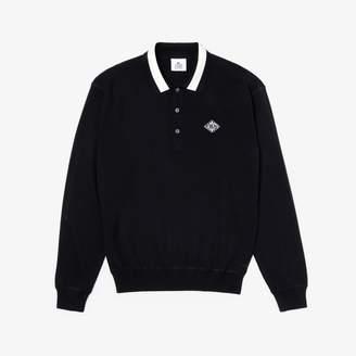 Lacoste Men's LIVE Polo Collar Cotton Sweater