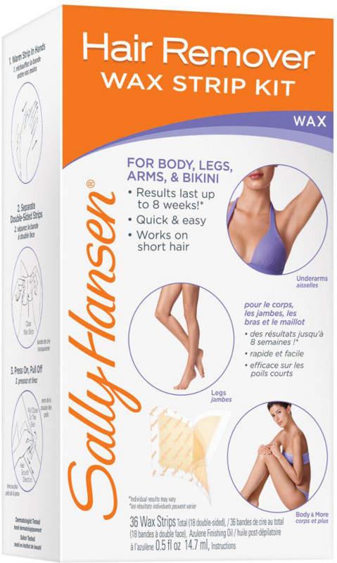 Sally Hansen Hair Remover Wax Strip Kit for Body