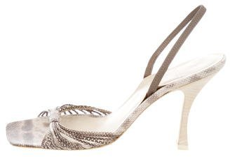 Vera Wang Multistrap Slingback Sandals