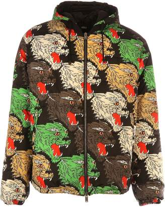 Gucci Panther Print Padded Coat