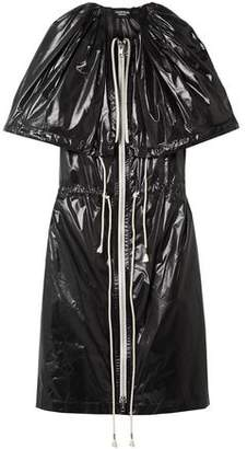 Calvin Klein Cape-effect Gathered Coated-shell Dress