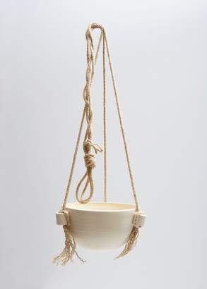 Kati Von Lehman Handled Hanging Planter Small
