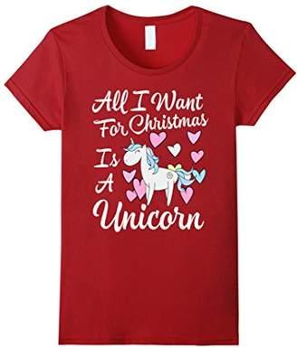 Funny Unicorn Christmas Shirt for Women or Girls