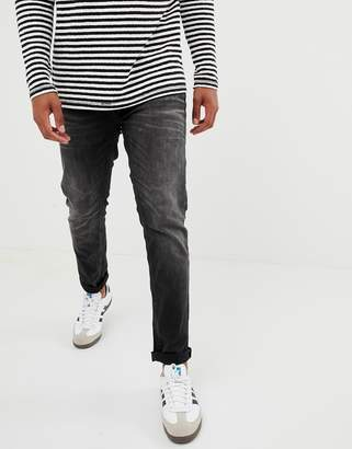 Jack and Jones Intelligence TIM slim fit jeans in black
