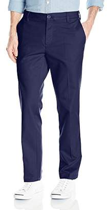 Izod Men's Flat Front Slim Fit Performance Stretch Chino Pant