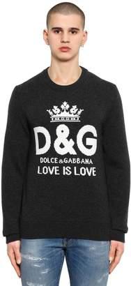 Dolce & Gabbana Logo Intarsia Cashmere Sweater