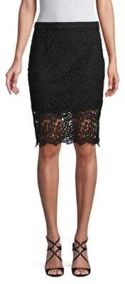 Lace Side Zip Skirt