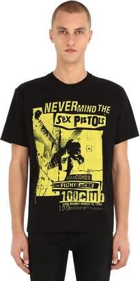 The Kooples Sex Pistols Print Cotton Jersey T-Shirt