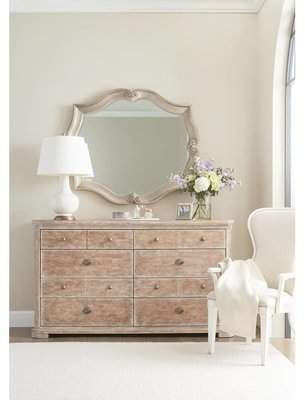 Stanley Juniper Dell 8 Drawer Double Dresser with Mirror