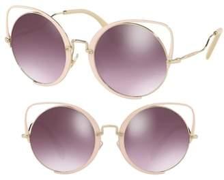 Miu Miu 54mm Round Lens Cat Eye Sunglasses