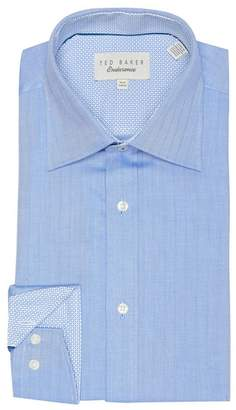 Ted Baker Marb Endurance Herringbone Trim Fit Dress Shirt