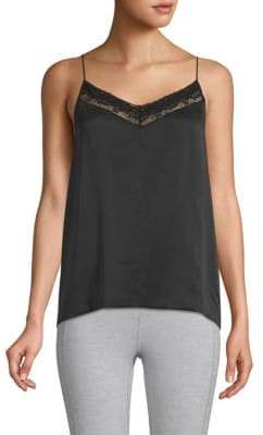 Robert Rodriguez Lace-Trimmed Silk Camisole