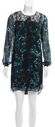 Haute Hippie Silk Lace Shift Dress