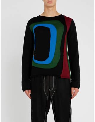 Comme des Garcons Abstract cutout wool-blend jumper