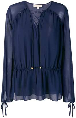 MICHAEL Michael Kors lace-up detail blouse