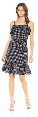 Betsey Johnson Women's Half Mood Satin Midi Dress