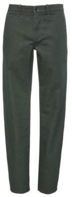 BOSS Hugo Cotton Denim Pant, Slim Fit Orange Chester 38/34 Dark Green