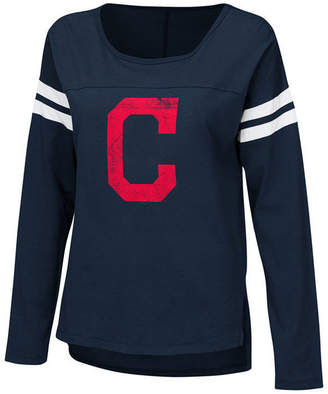 Touch by Alyssa Milano Women's Cleveland Indians Free Agent Long Sleeve T-Shirt