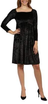 24/7 Comfort Apparel Palisades Velvet Dress