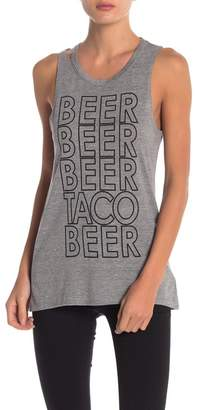 Chaser Beer Graphic Heathered Tank