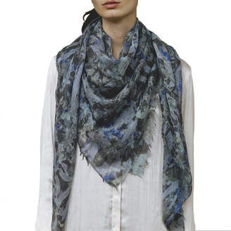 Ever Veritas Oversized Cashmere Botanical Scarf