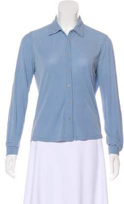 Brooks Brothers Silk Button-Up Top