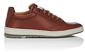 Heschung Men's Travel Leather Sneakers-Med. brown