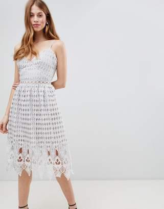 Glamorous Crochet Skater Midi Dress