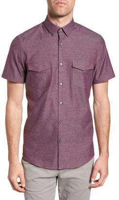 Calibrate Trim Fit Flap Pocket Sport Shirt