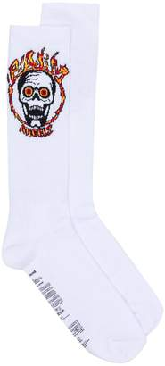 Palm Angels skull motif socks