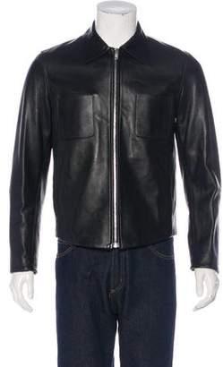 Maison Margiela Leather Shirt Jacket w/ Tags