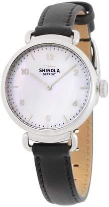 Shinola Women's The Canfield 32mm Black Leather Band Quartz Watch 20018680
