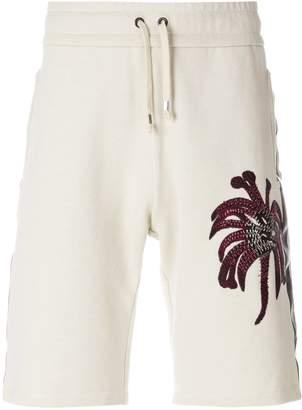 Roberto Cavalli Palms embroidered shorts
