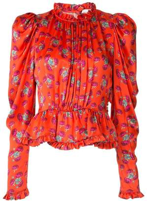 Magda Butrym victorian style printed blouse