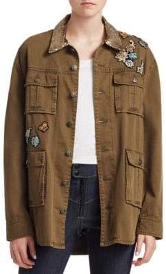 Cinq à Sept Canyon Sequin Patch Jacket