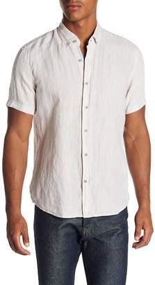 Report Collection Short Sleeve Slim Fit Linen Shirt