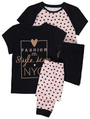 George Heart Print Pyjamas 2 Pack