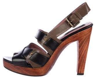 Derek Lam Leather Ankle Strap Sandals