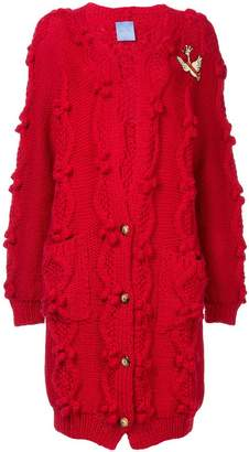 Macgraw cable knit oversized cardigan