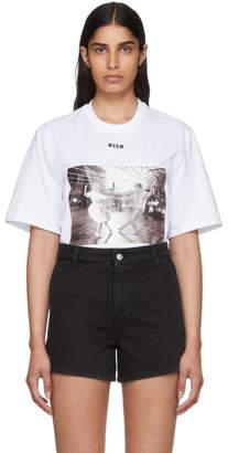 MSGM White Sock Hop T-Shirt