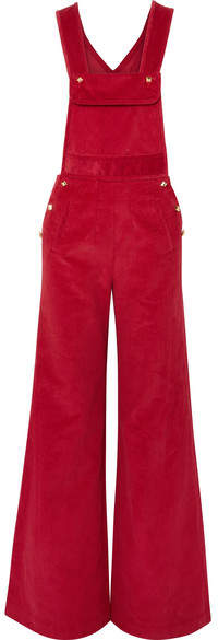 Anna Mason - Bay Cotton-corduroy Overalls - Red
