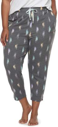 Sonoma Goods For Life Plus Size SONOMA Goods for Life Essential Crop Lounge Pants