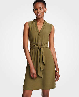 Ann Taylor Tie Front Shirtdress