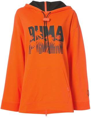 FENTY PUMA by Rihanna full back zip Ls hoodiea drawstring