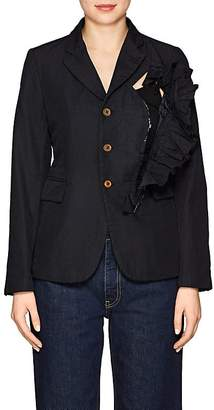 Comme des Garcons WOMEN'S WRINKLED TWILL THREE-BUTTON BLAZER