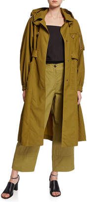 Tre By Natalie Ratabesi Khaki Belted Oversized Trench Coat
