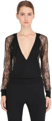 Lace & Wool Blend Sweater $1,525 thestylecure.com