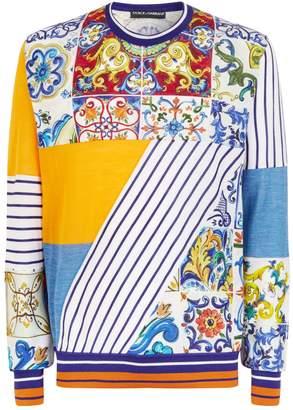 Dolce & Gabbana Majolica Cashmere-Silk Sweater